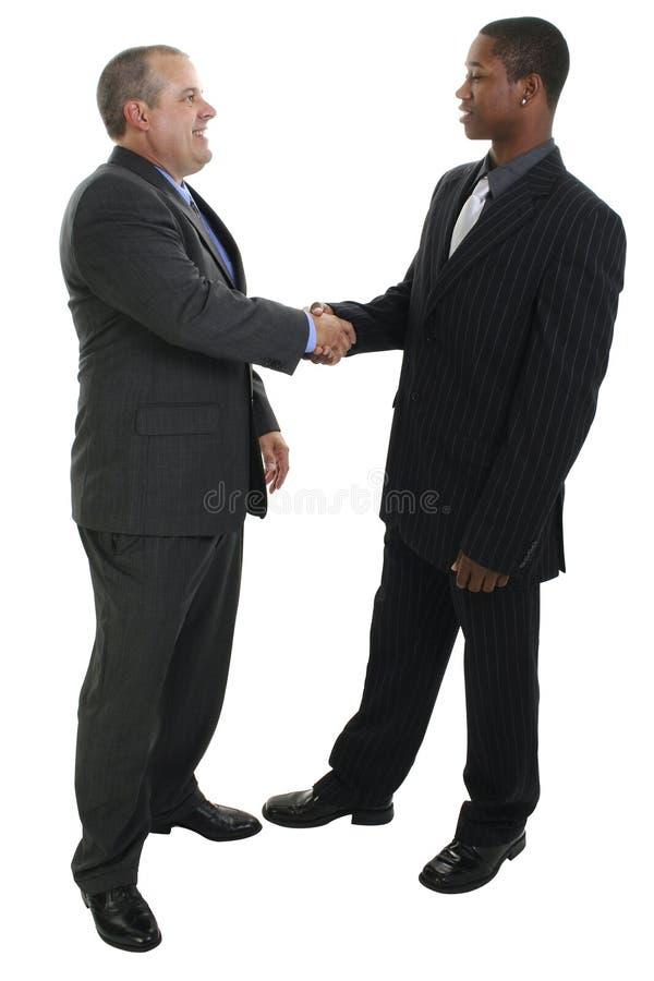 biznesmen uścisnąć ręki obraz royalty free