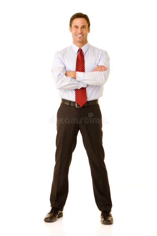 biznesmen ufny zdjęcie stock