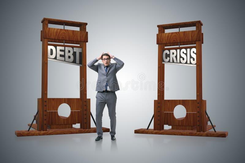 Biznesmen w ciężkiego długu biznesu pojęciu royalty ilustracja