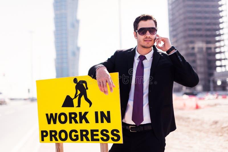 Biznesmen W Dubaj obraz royalty free