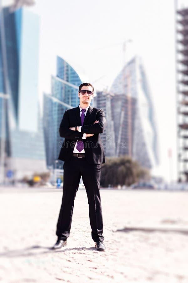 Biznesmen W Dubaj zdjęcie stock