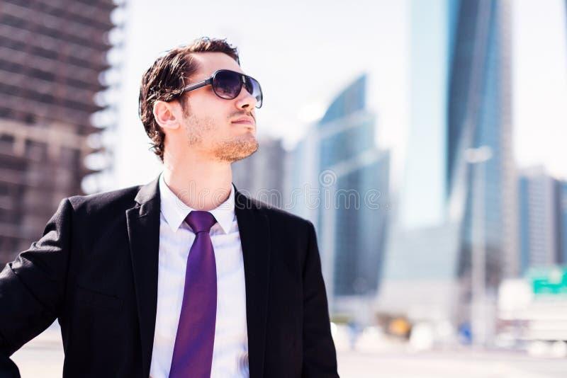 Biznesmen W Dubaj obraz stock