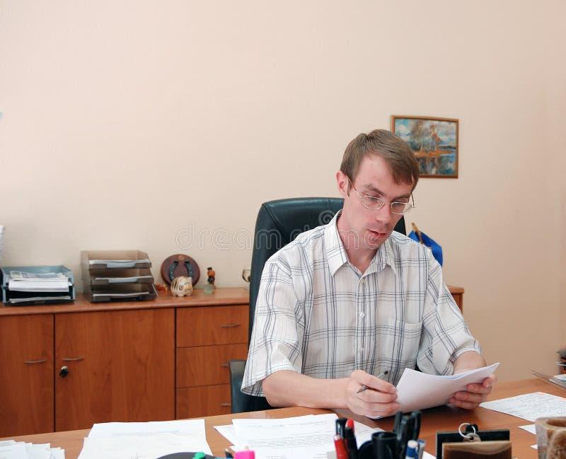 Biznesmen w jego biurze fotografia royalty free