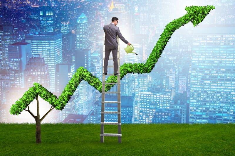Biznesmen w odpowiedzialnym ekologicznym biznesie obrazy stock
