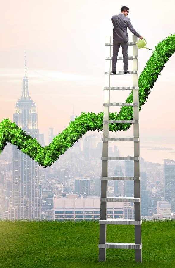 Biznesmen w odpowiedzialnym ekologicznym biznesie obrazy royalty free