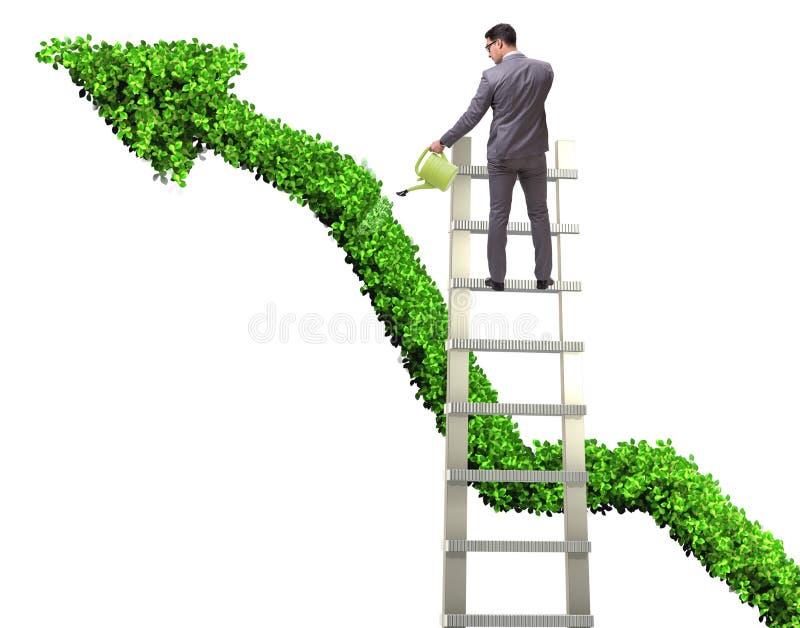 Biznesmen w odpowiedzialnym ekologicznym biznesie zdjęcie royalty free