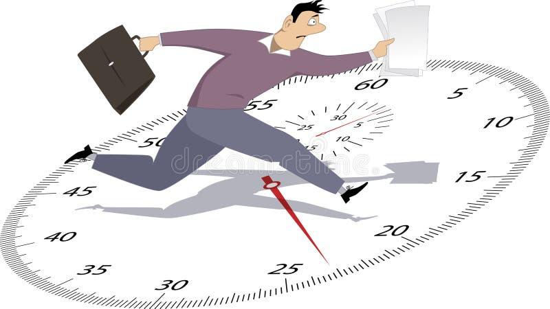 Biznesmen w Pośpiechu royalty ilustracja