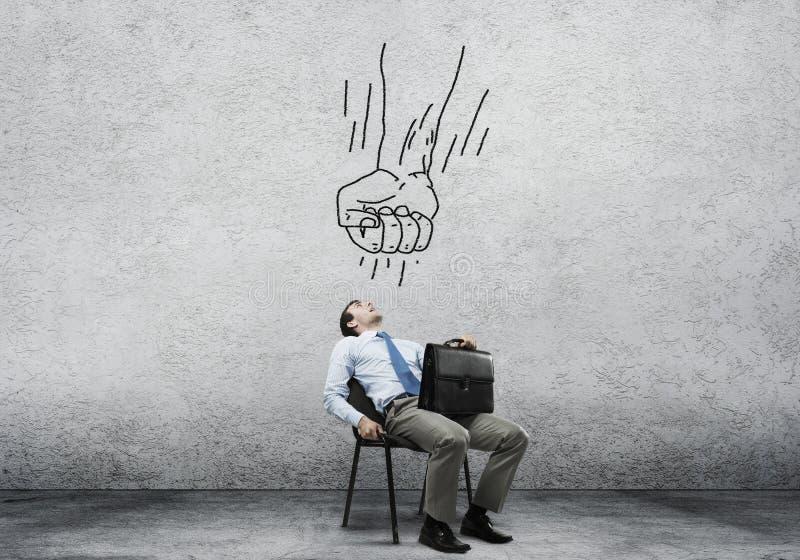 Biznesmen w stresie zdjęcie royalty free