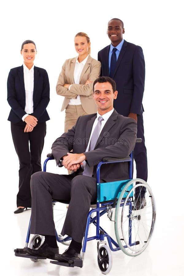 Biznesmen w wózek inwalidzki zdjęcie stock