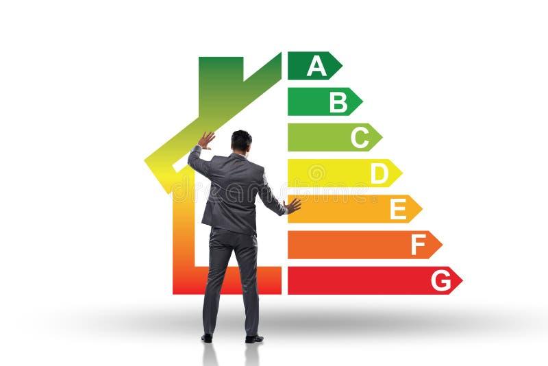 Biznesmen w wydajności energii pojęciu zdjęcie royalty free