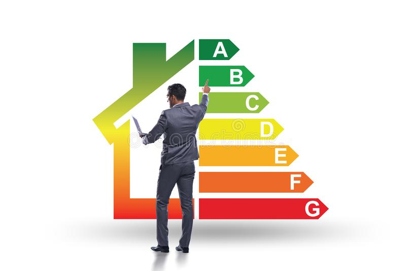 Biznesmen w wydajności energii pojęciu obrazy stock
