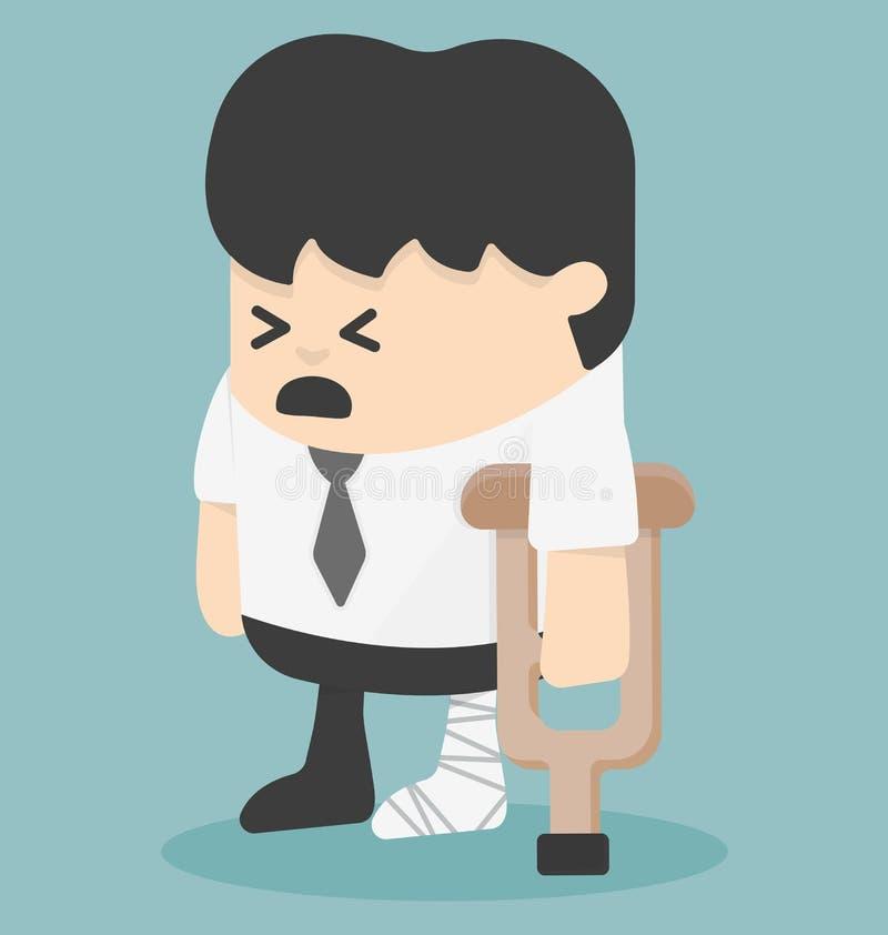Biznesmen w zdradzonych bandażach ilustracja wektor