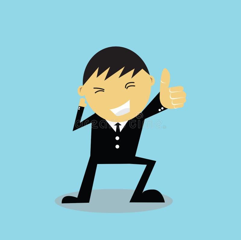 Biznesmen wręcza gratulowanie ilustracji