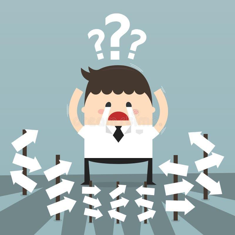Biznesmen z alternatywnym wyborem, biznesowy pojęcie ilustracja wektor
