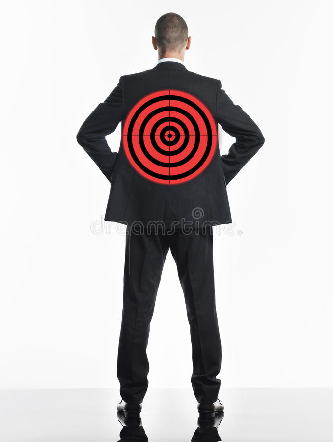 Biznesmen Z celem Na plecy ilustracji