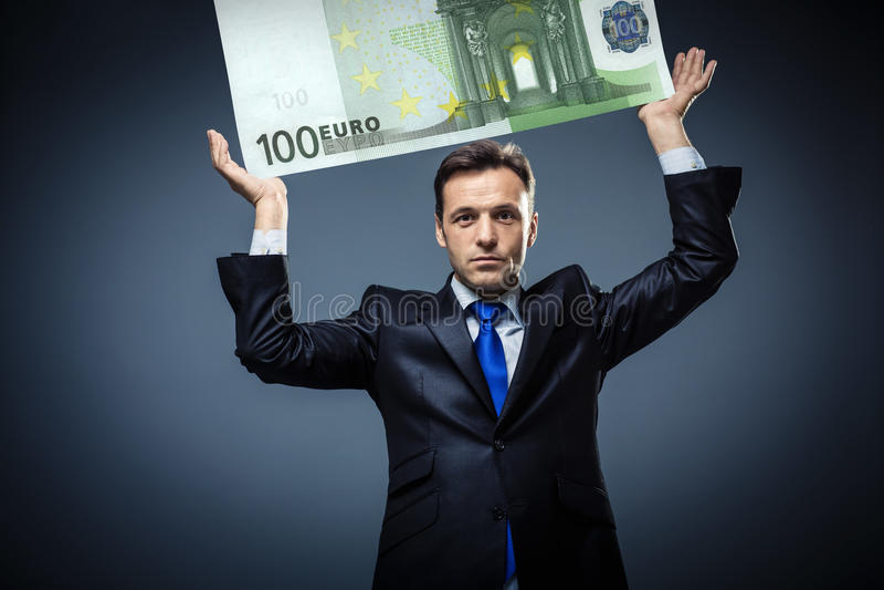 Biznesmen z euro obrazy stock