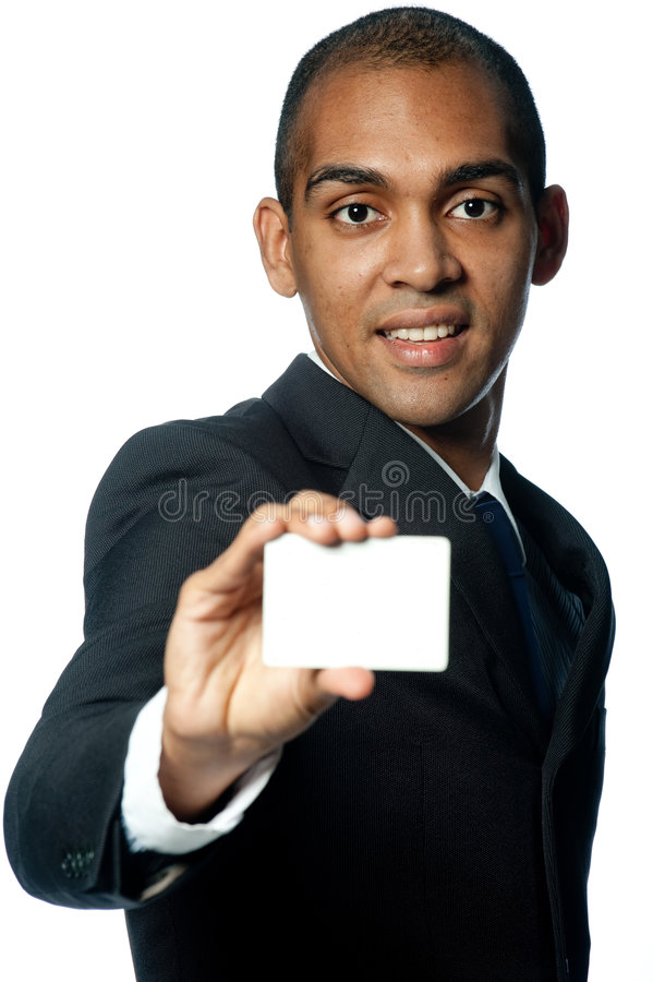 Biznesmen Z Kartą fotografia stock