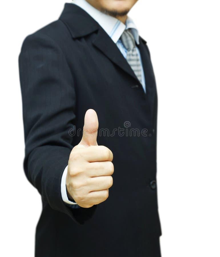 Biznesmen z kciukiem up zdjęcia royalty free