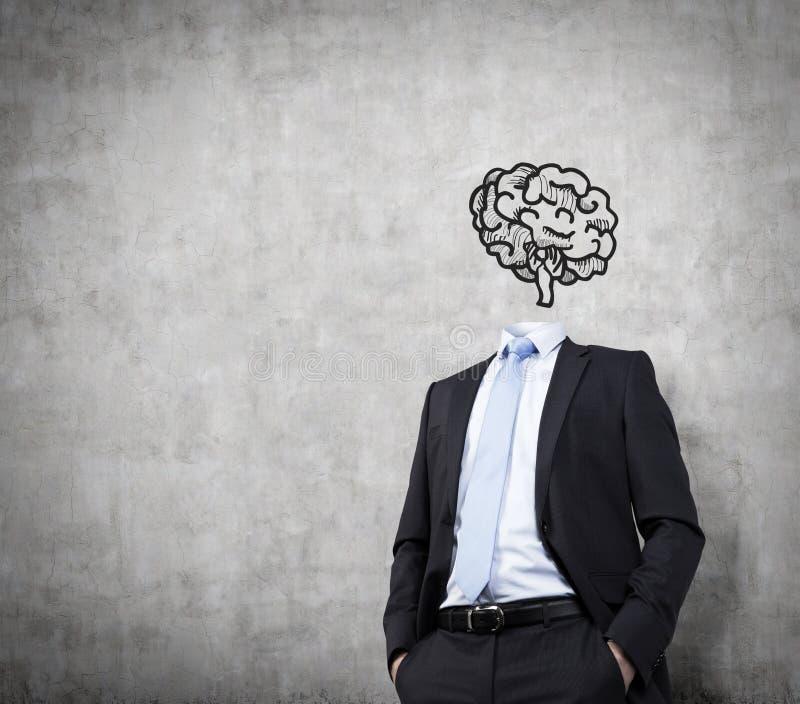 Biznesmen z mózg obraz royalty free