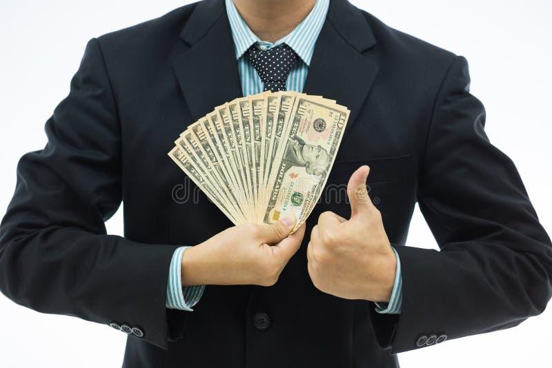 Biznesmen z pieniądze zdjęcia royalty free