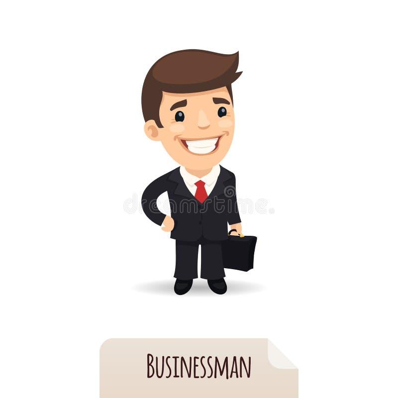 Biznesmen z teczką ilustracja wektor