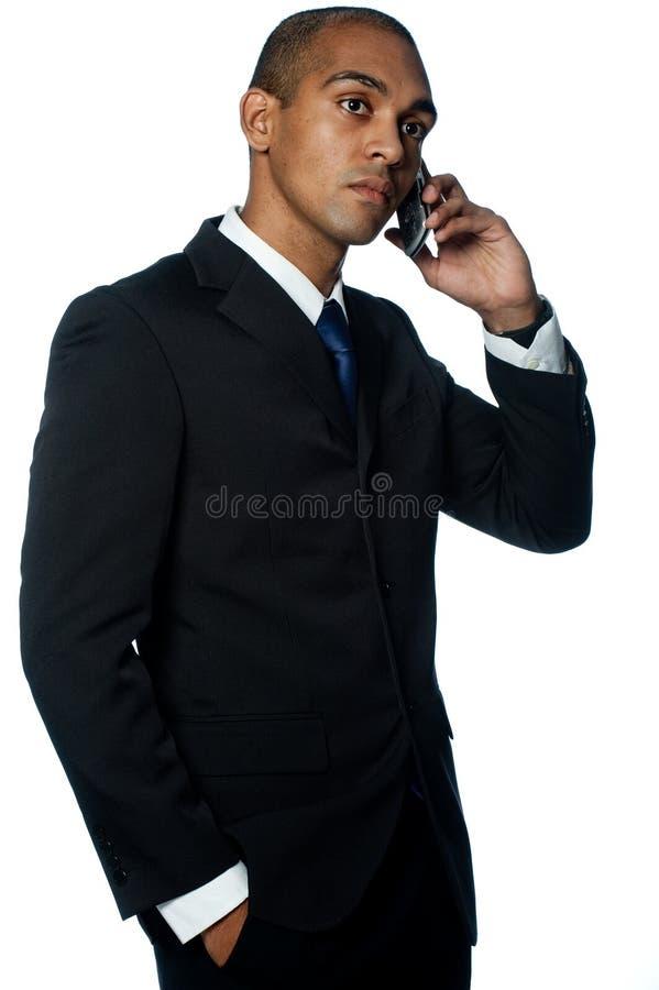 Biznesmen Z Telefonem zdjęcia stock