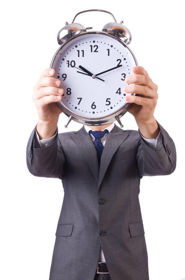Download Biznesmen z zegarem obraz stock. Obraz złożonej z tło - 31601363