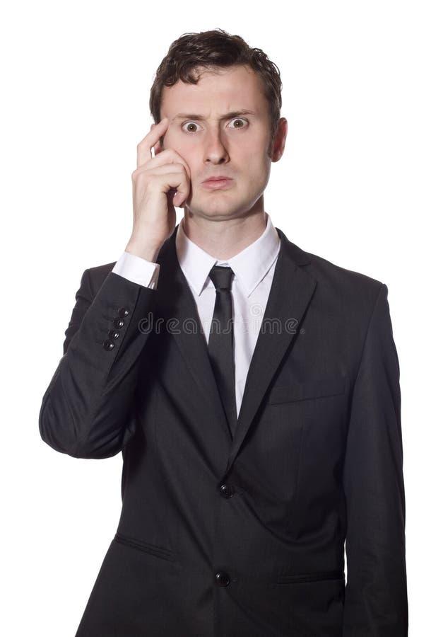 biznesmen zbijać z tropu głowa jego chrobot zdjęcie stock