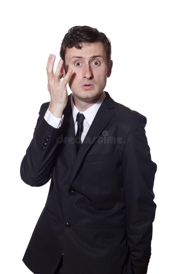 biznesmen zbijać z tropu głowa jego chrobot zdjęcia stock