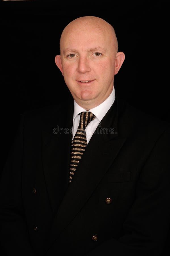 biznesmena łysy portret fotografia stock