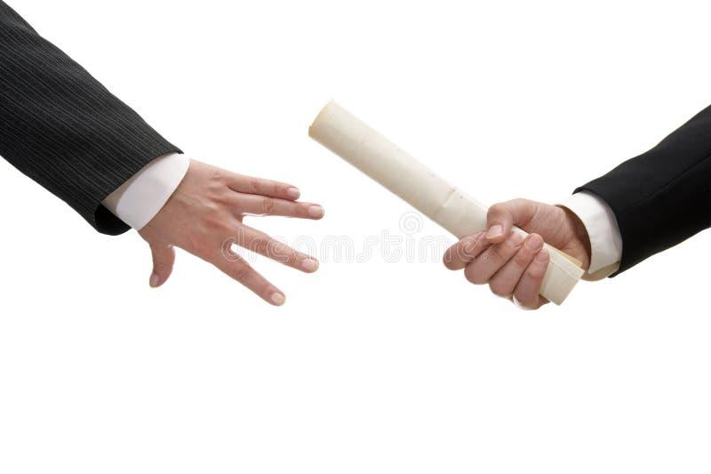 biznesmena (1) dokument obrazy royalty free