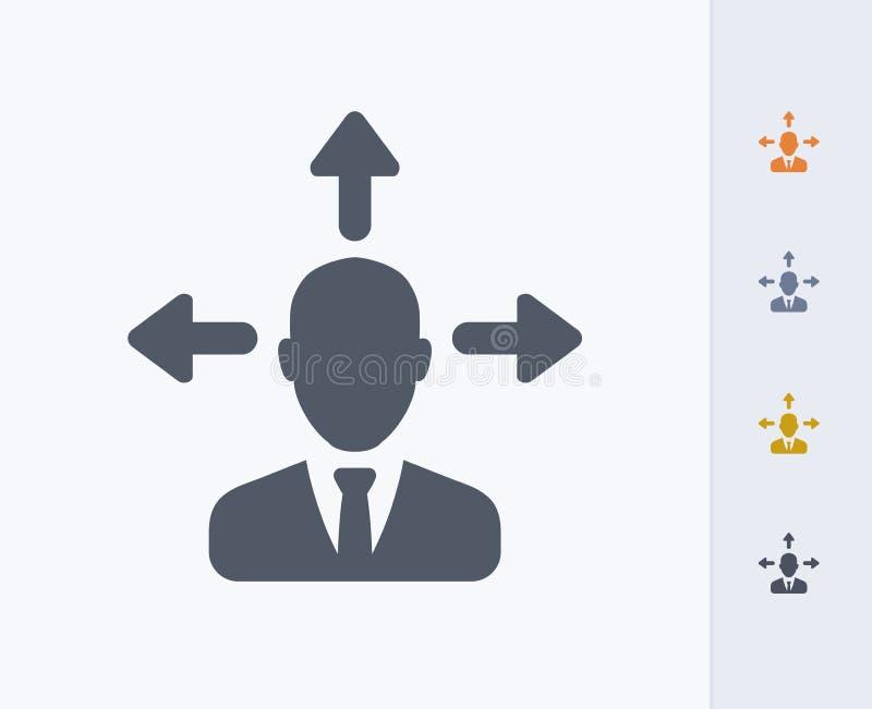Biznesmena Avatar & strzały - węgiel ikony obraz stock
