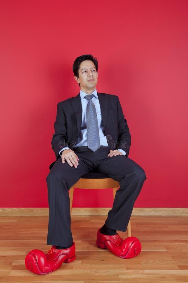 biznesmena błazenu buty zdjęcia stock