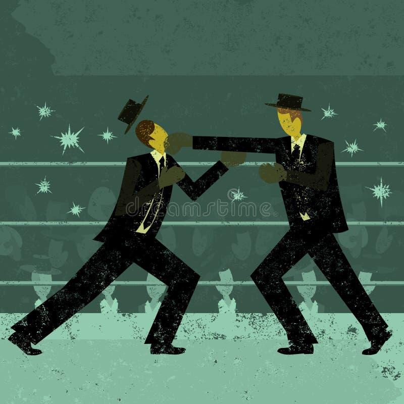 Biznesmena bokserski dopasowanie ilustracji