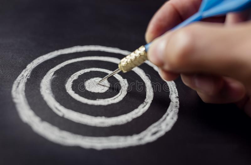 Biznesmena cel dla sukcesu obraz stock