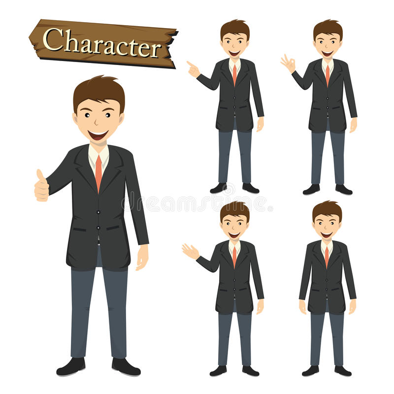 Biznesmena charakter - ustalona wektorowa ilustracja ilustracji