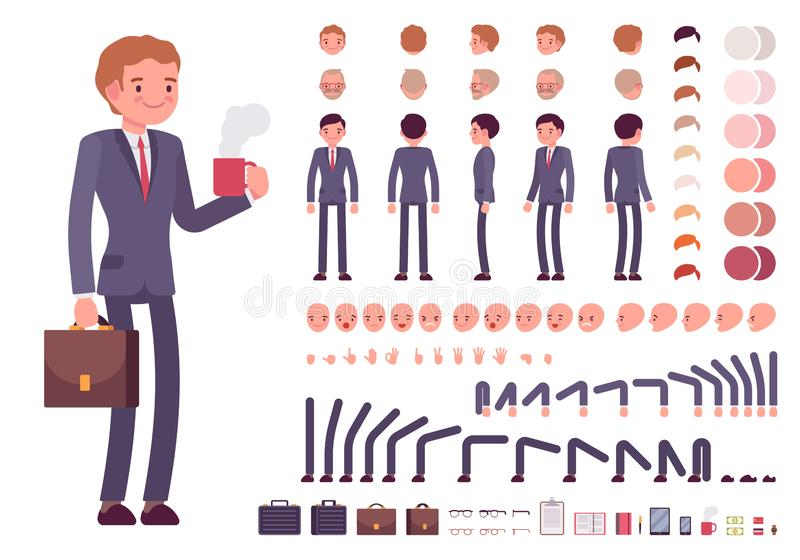 Biznesmena charakteru tworzenia set royalty ilustracja
