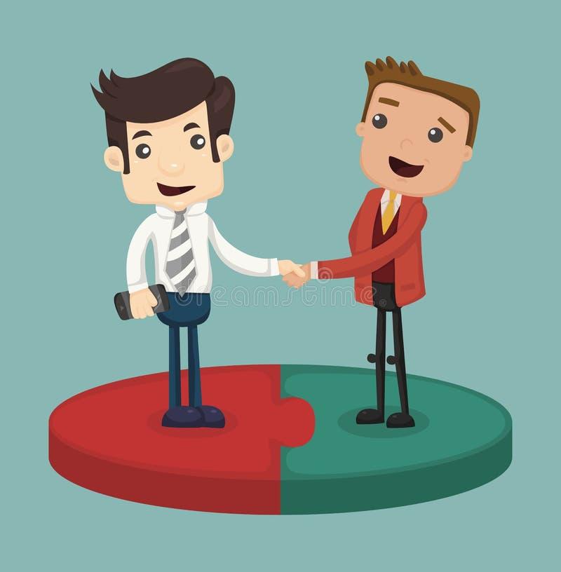 Biznesmena chwiania ręka ilustracji
