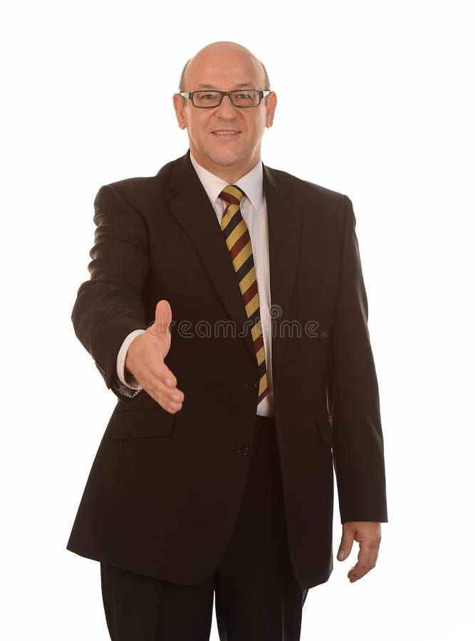 Biznesmena chwiania ręki zdjęcia royalty free