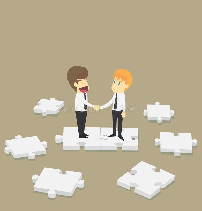 Biznesmena chwiania ręki na wyrzynarka współpracy Biznesowi potomstwa c royalty ilustracja