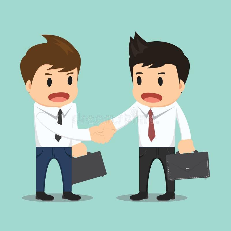 Biznesmena chwiania ręki wektoru ilustracja royalty ilustracja