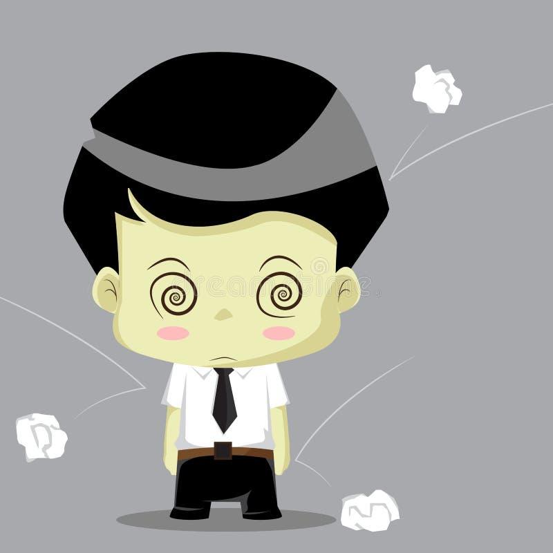 Biznesmena działania oszołomienie royalty ilustracja