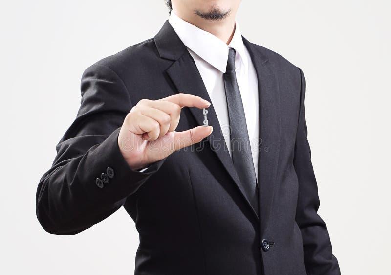 Biznesmena działania pokazu problem biznesowy bardzo mały zdjęcie stock