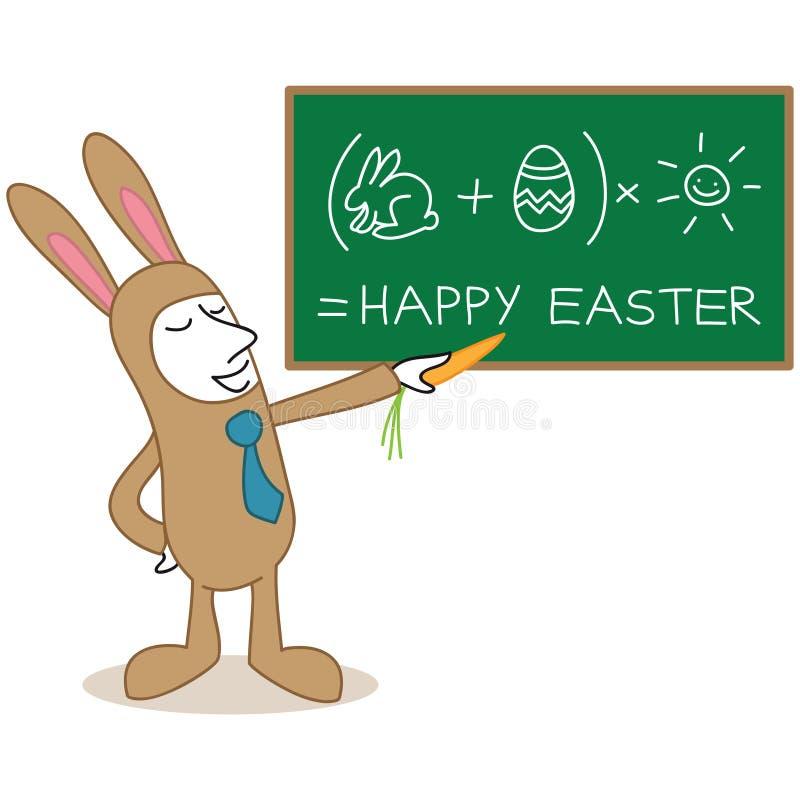Biznesmena Easter królika kostiumu deski śmieszny obliczenie ilustracji