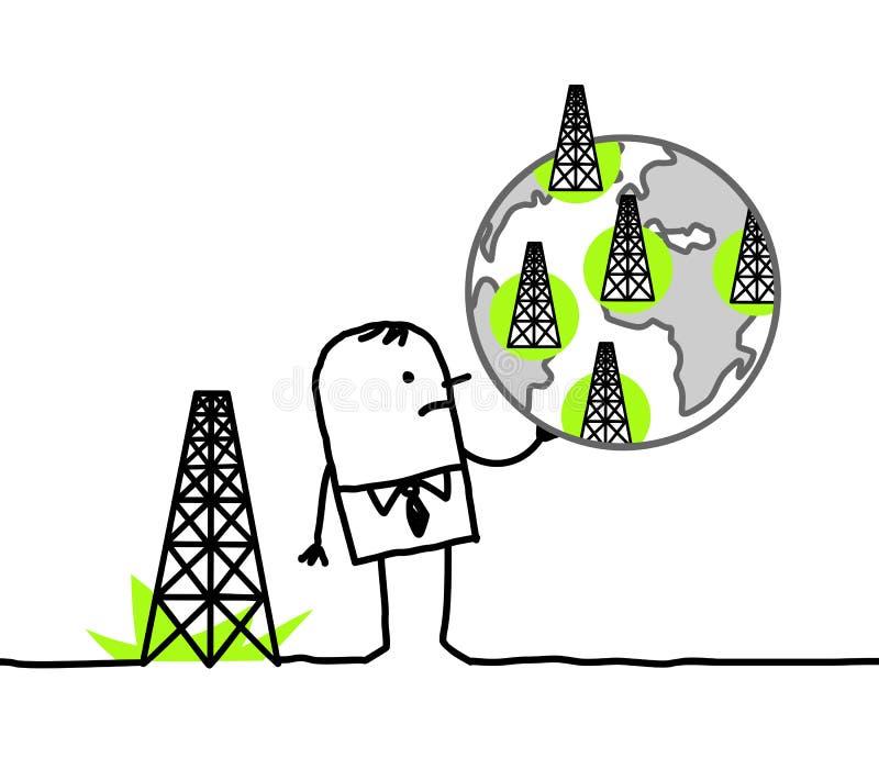 Biznesmena & iłołupka gazu miejsca ilustracji