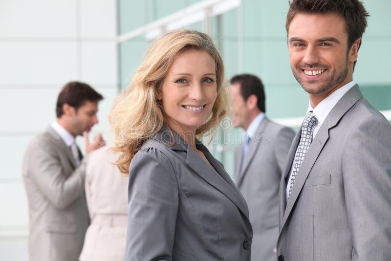 Biznesmena i kobiety ja target893_0_ zdjęcie stock