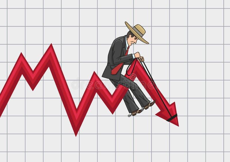 Biznesmena kowboj ilustracja wektor