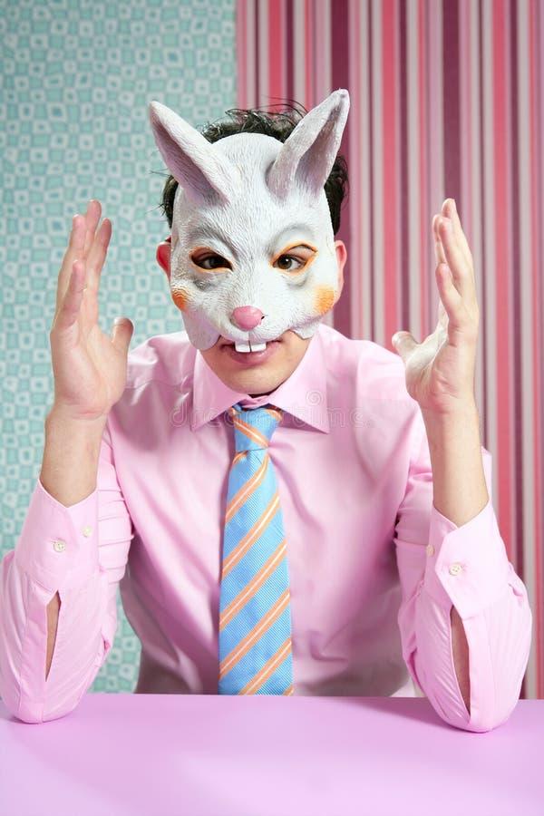 biznesmena królik śmieszny maskowy obraz royalty free