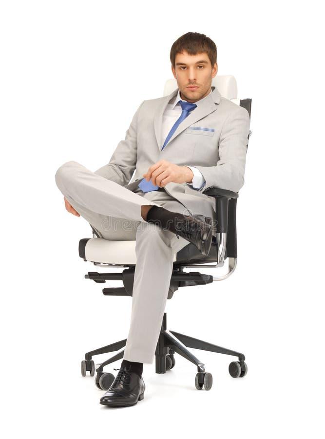 biznesmena krzesła siedzący potomstwa obrazy stock