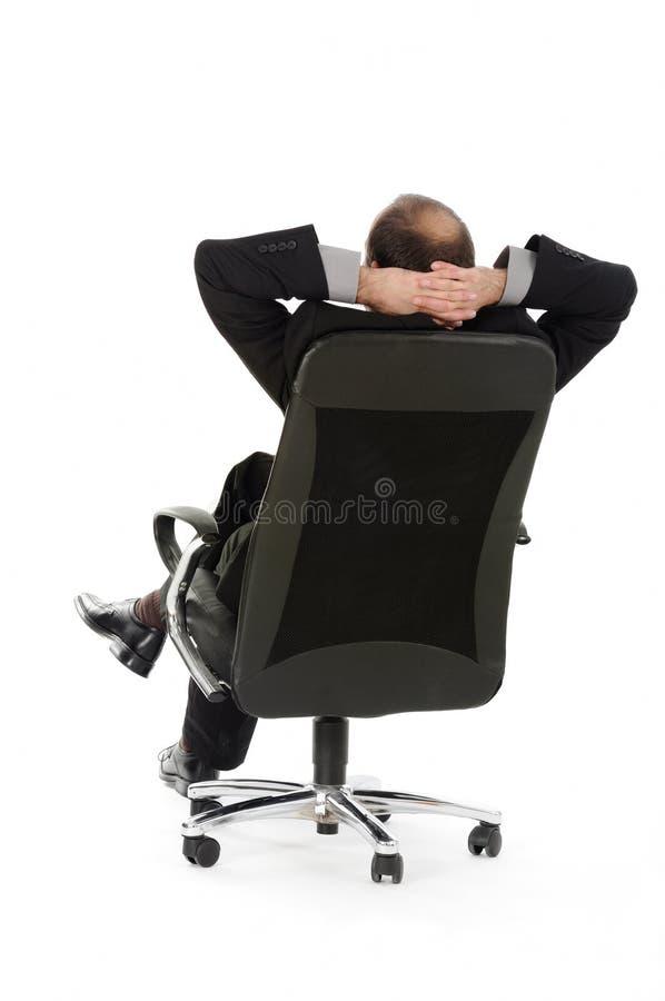 biznesmena krzesło zdjęcie royalty free